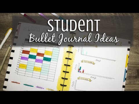 7 Student Bullet Journal Spreads | Discbound Notebook thumbnail