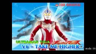 Download V6 - Take Me Higher - Ultraman Ost - Karaoke Instrumental with Lyric Romaji Mp3