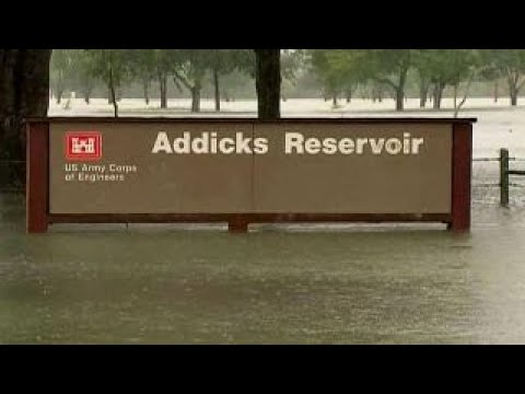Houston's Addicks Reservoir spilling over for first time