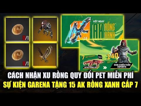 Free Fire   Cách Nhận Xu Rồng Đổi Pet Miễn Phí - Sự Kiện Garena Tặng 15 AK Rồng Xanh   Rikaki Gaming