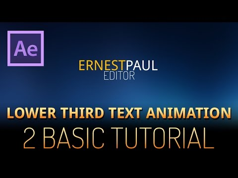 After Effects Tutorial - lower third text animation 2 (very basic)