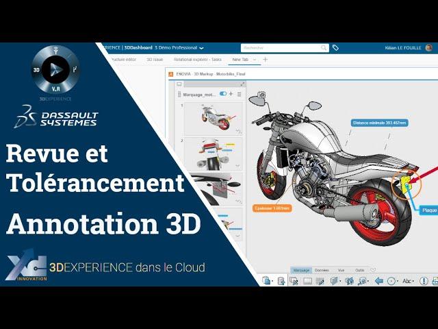 3DEXPERIENCE ® - 3DMarkUp, revue CAO 3D