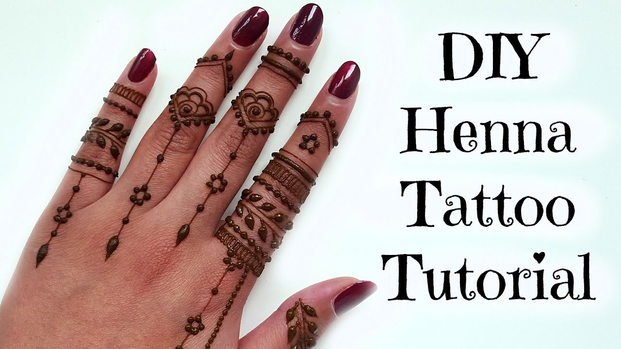 Diy Henna Tattoo Ink Without Henna Powder: DIY Easy Henna Tattoo Tutorial