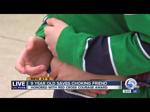 9-year-old Rootstown boy honored for saving classmate's life with Heimlich maneuver