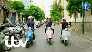 Gordon, Gino and Fred: Road Trip | Attempting to Ride Vespas Through Naples | ITV