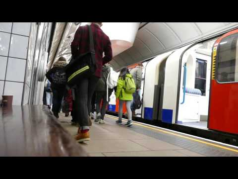 London Underground   Victoria line train at Oxford Circus on 16th Jan 2016