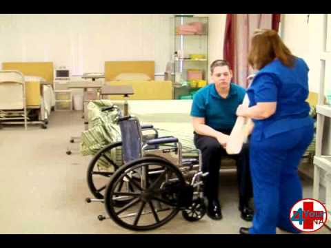 Instructional For Transfer A Patient From Bed To Wheelchair