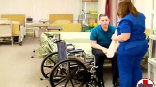 Repeat youtube video Instructional Video for Transfer a Patient from Bed to Wheelchair