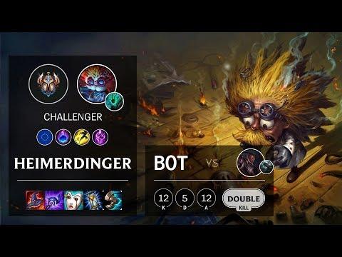 Heimerdinger Bot vs Lucian - EUW Challenger Patch 10.4