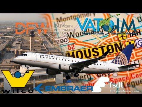 WIlco Feelthere E170 on Vatsim USA - FSDT KIAH - KDFW