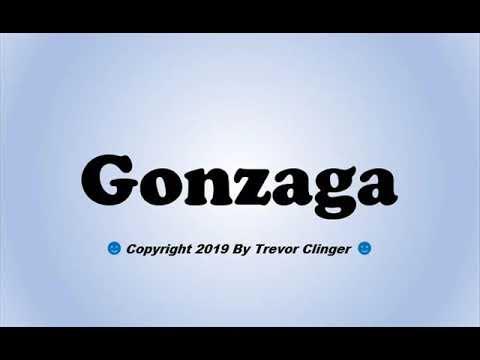 How To Pronounce Gonzaga (Bulldogs) - 동영상