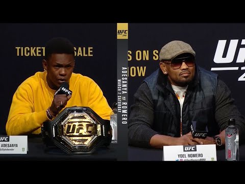 UFC 248: Адесанья vs Ромеро - Пресс-конференция