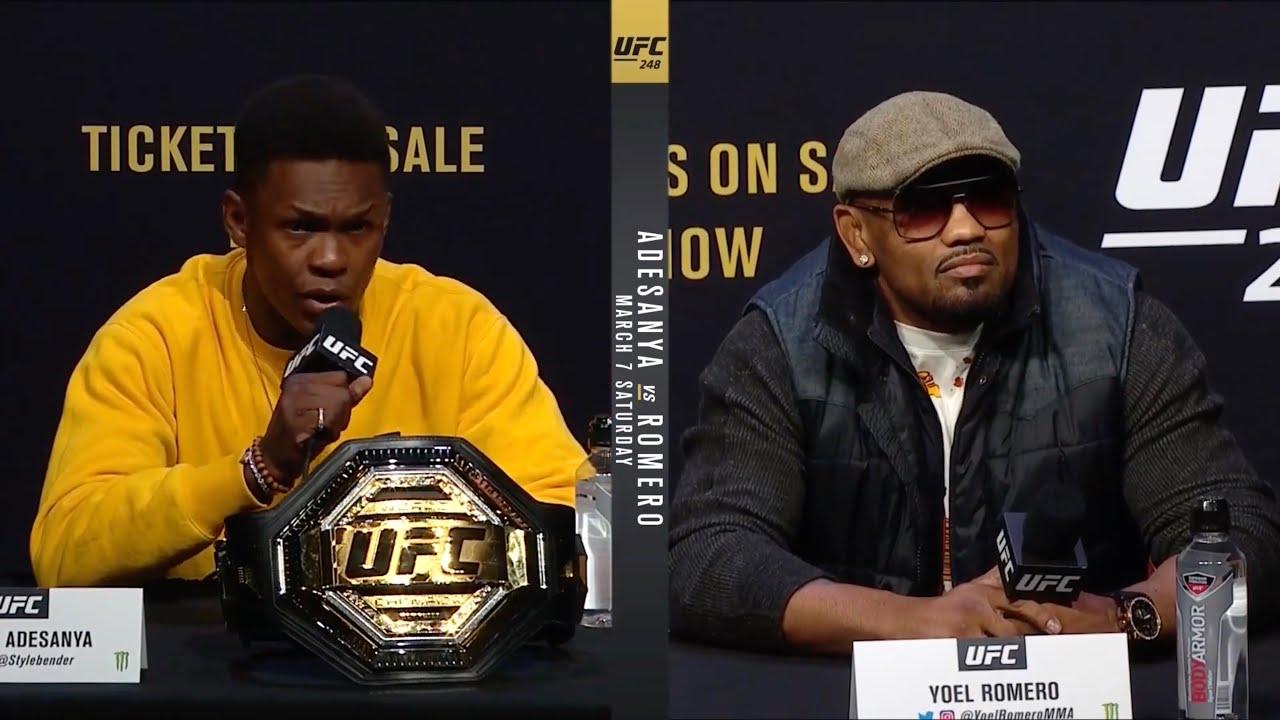 Пресс-конференция UFC 248: Адесанья vs Ромеро