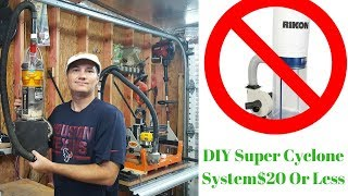 DIY Super Quiet Cyclone Dust Collection