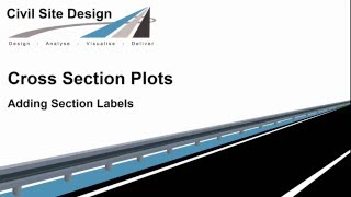Cross Section Plots - Adding Section Labels
