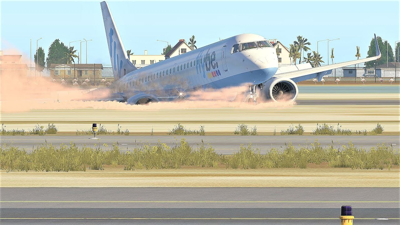 Embraer E195 Leaving The Runway During An Emergency Landing - [X-Plane 11]