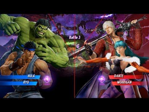 Marvel vs Capcom infinite HULK RYU VS DANTE MORRIGAN | Marvel vs Capcom infinite Fight 3