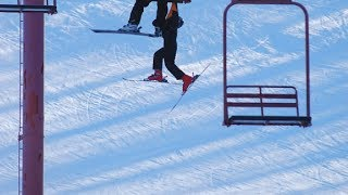 People Falling Off Ski Lifts Compilation Part 2