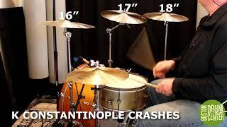 "Zildjian K 16"", 17"" & 18"" Crash Shootout: Sweet, Custom Dark, Constantinople & Dark Thin"