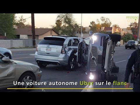 une voiture autonome d uber impliqu e dans un accident youtube. Black Bedroom Furniture Sets. Home Design Ideas
