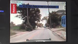 Police chase an auto theft perp