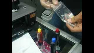 how to refill your cartridge hp 122 black and color cartridge