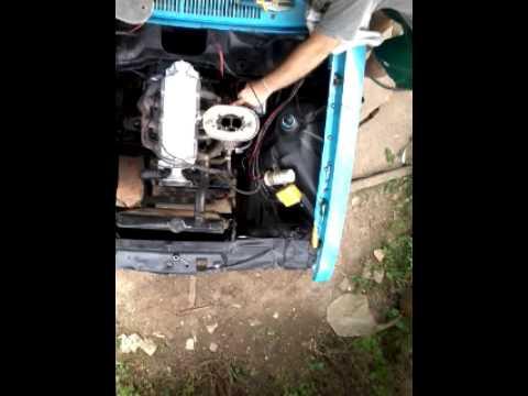 Funcionando o motor pela primeira vez