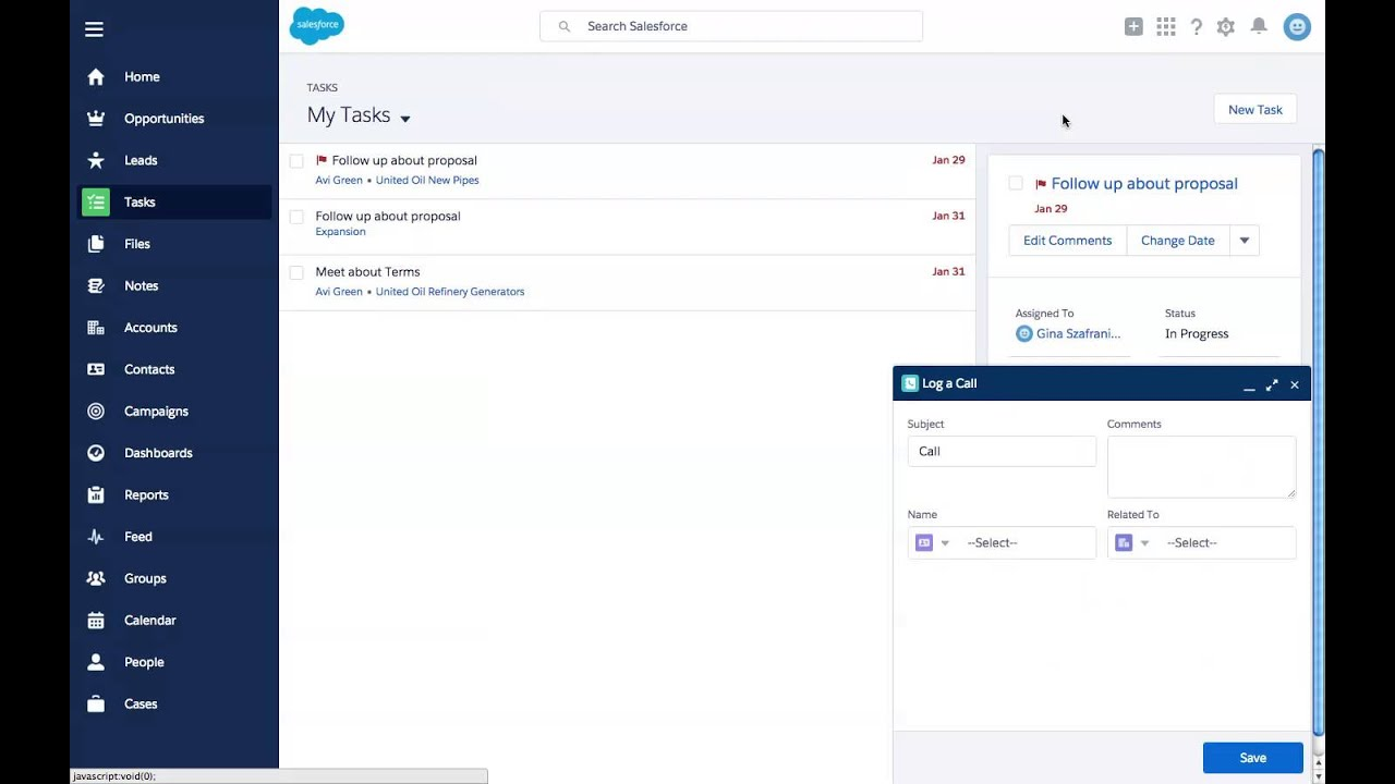 How to Log a Call with Salesforce Lightning Experience