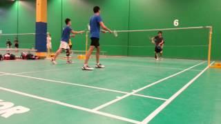 don.t LC Badminton - Akshat & Kodi vs Jordan & Abraham - 1 of 3