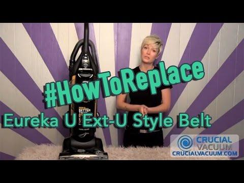 Eureka U Ext-U Style Belt Replacement: Part # 61120A , # 61120B, & # 61120C and 61120D