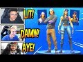 """STREAMERS REACT TO *NEW* """"FORTUNE"""" &""""MONIKER"""" SKINS! *RARE* Fortnite FUNNY Moments"""