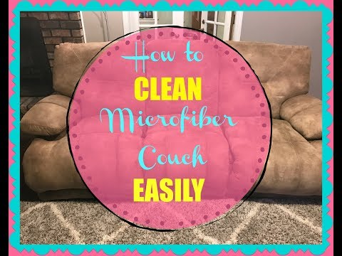 How to clean microfiber couch // Easy DIY couch cleaner
