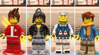 The LEGO Ninjago Movie Videogame - How to Unlock all Ninjas (High School)