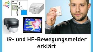 Wie funktionieren Bewegungsmelder? HF und IR Bewegungssensor Technik erklärt STEINEL + TRIDONIC