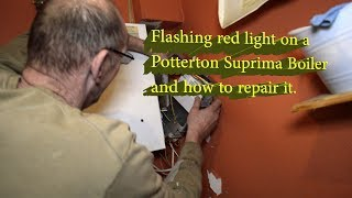 Flashing red light on Potterton boiler and how to fix it.