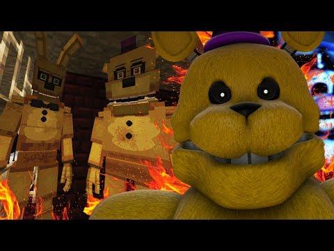 BUILDING FREDBEAR AND SPRING BONNIES SECRET DINER!   Minecraft FNAF (Five Nights at Freddys)