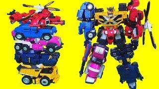 미니특공대X 펜타X봇 장난감 펜타트론 5단합체 볼트봇 새미봇 루시봇 리오봇 맥스봇 변신로봇 자동차 장난감 Mini Force Penta X Bot Toys