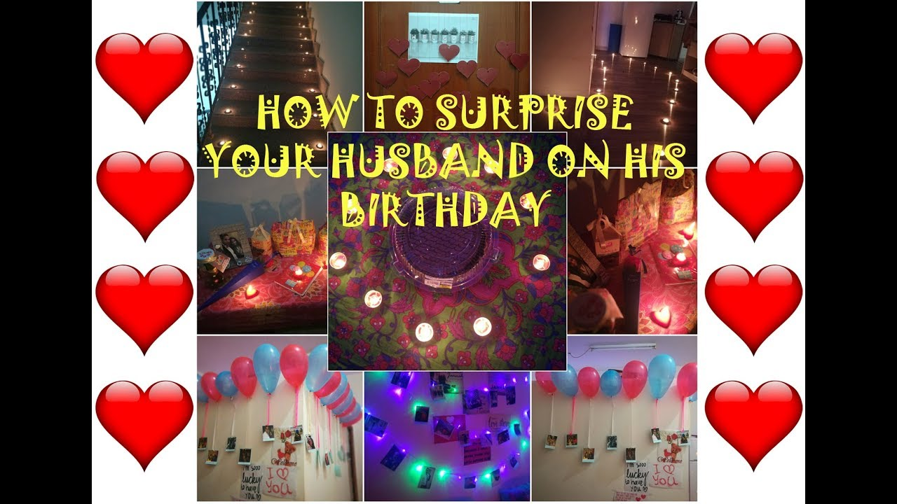 BIRTHDAY PARTY DECORATION / HOW TO SURPRISE YOUR HUSBAND ...