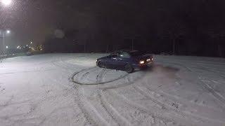 Tavaszi hóesés ❄️ Játszottunk egy kicsit a BMW-vel 🚗 Benett-nek #NEMADTAKI