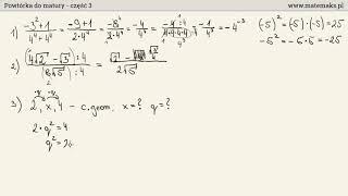 Powtórka do matury z matematyki - część 3