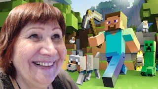 Шок! бабушка играет в minecraft - смех до слез!