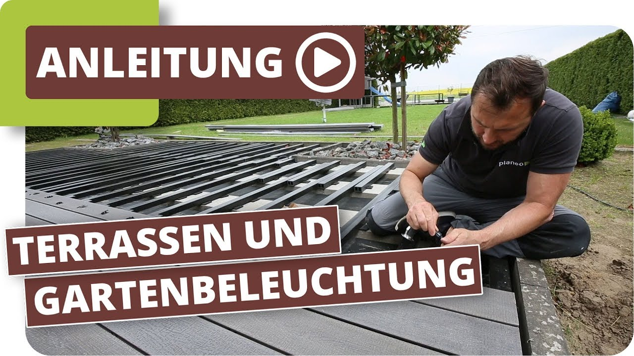 planeo terrassen und gartenbeleuchtung - youtube