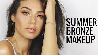 NATURAL SUMMER BRONZE MAKEUP | Golden Summer Makeup