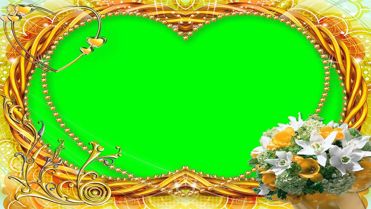 Nice Photo Frame Green Screen Video Free for Editing 9 - YouTube