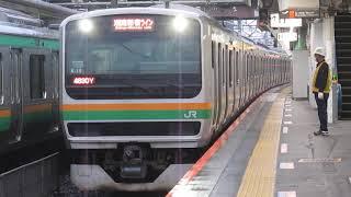 湘南新宿ラインE231系籠原駅発車※発車メロディー「熊谷市歌A」あり