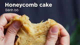Cách làm bánh bò nướng dai xốp không cần ủ I Vietnamese Honeycomb Cake super easy recipe