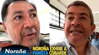 Noroña Exhibe a Panista Cobarde en Aeropuerto de Tijuana (Óscar Vega)