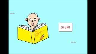 Примеры употребления частицы 'Zu' в немецком языке