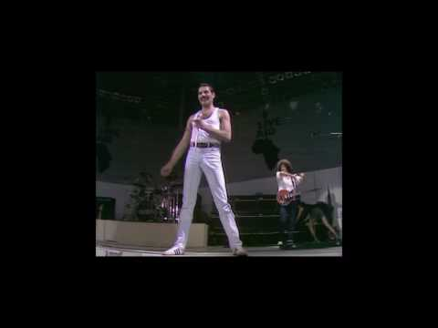 Queen at Live Aid including the fantastic band introduction