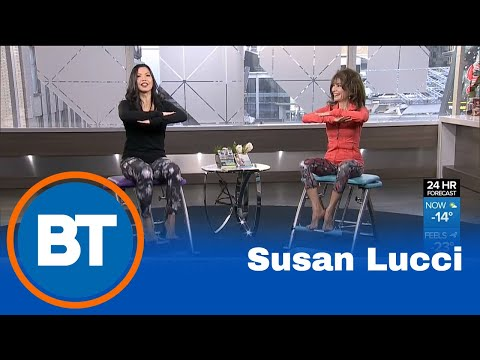 Susan Lucci demonstrates the benefits of Pilates PRO Chair